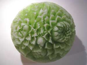 Carved Honeydew