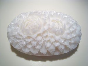 Soap Carving - 2 flowers