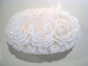 Soap Carving, three roses