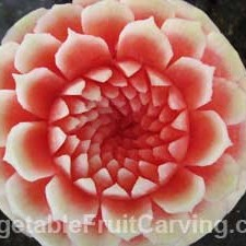 Carved Watermelon Flower