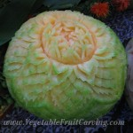 Cantaloupe carving