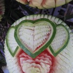 Closer look watermelon hearts
