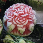 Curled edged watermelon roses by Nita