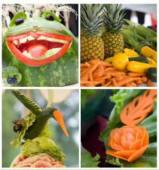 Vegetable carving competition event the carve iii