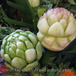 Melon carvings artichoke flower