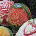 Several melon carvings
