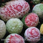 Thai melon carvings