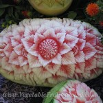 Thai style watermelon top view