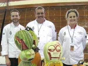 1st place winning team from Columbus Culinary School