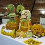 Details of 2nd Place winning vegetable sculpture from the team event.