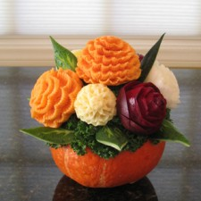 Root Vegetable Flower Bouquet for Tahnksgivine Centerpiece