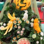 Beautiful Vegetable Carving Birds from Russian Carving Competition
