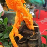 Beautiful Vegetable Carving Dragon from Russian Carving Competition