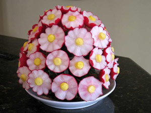 Fruit Carving for Beginners - Radish Flower Bouquet lesson