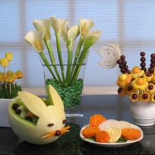 Vegetable and Fruit Carvings for Spring