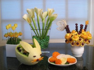 Vegetable and Fruit Carving Easter Ideas
