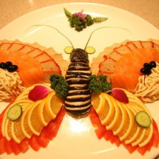 butterfly salmon plate