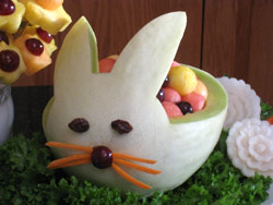 Bunny Fruit Carving