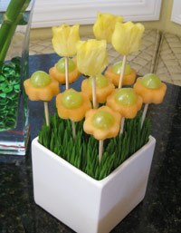 Spring garden edible fruit bouquet