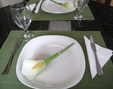vegetable carving Calla Lily