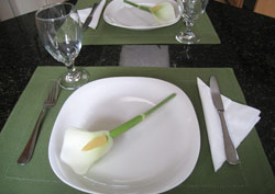 vegetable carving Easter Calla Lily