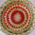 Thai style watermelon carving by Nita