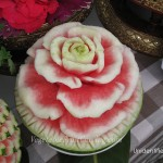 Carved watermelon at Songkran festival