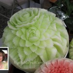 Honeydew carving by Nita