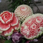 Watermelon carvings by Nita, Anne and ?
