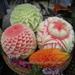 Melon carvings and Mango carving by Nita, Anne, Tina and ?