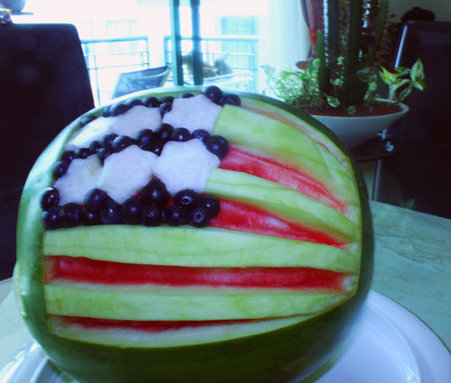 American Flag Waremelon for 4th of July