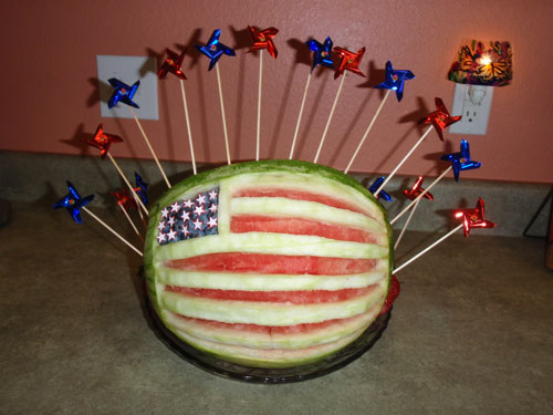 American flag watermelon for 4th of July