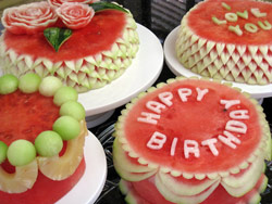 Nitas carved watermelon cakes made with fresh watermelon