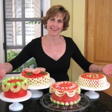 Nita with her watermelon cakes