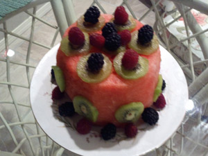 Frieda's watermelon cake