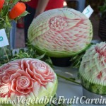 Anne Piyawan's and Nita's watermelon carvings