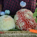 Closer look at Elisa's melon carvings