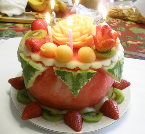 Carved watermelon cake by Phung Nguyen