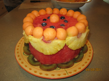 Robert Weil's watermelon cake