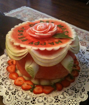 Watermelon cake by Mike Ghali