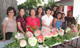 watermelon carving competition contestants