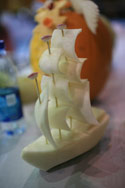 Vegetable Carving Ship