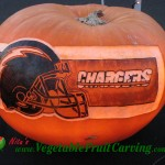 San Diego Chargers Pumpkin Carving