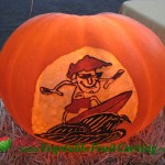 California Surfer Pumpkin Carving
