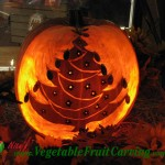 Christmas Tree Pumpkin Carving