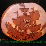 Tall Sailing Ship Pumpkin Carving