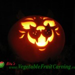 Cats Face Pumpkin Carving