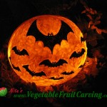 Flying bats pumpkin carving