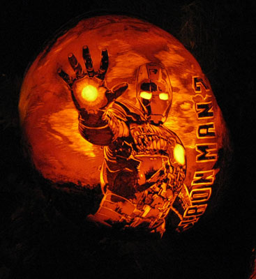Iron Man Pumpkin Carving