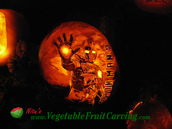 Pumpkin carving movie and cartoon themed carvings